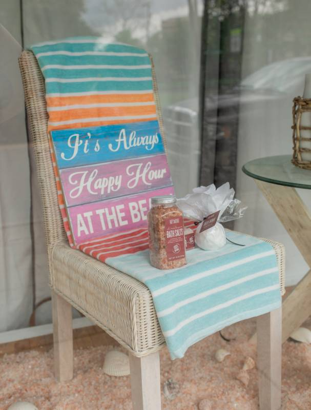 By the Sea Salt Therapy Window Display